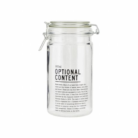Housedoctor Jar Optional Content glas 10x10x20cm 900ml