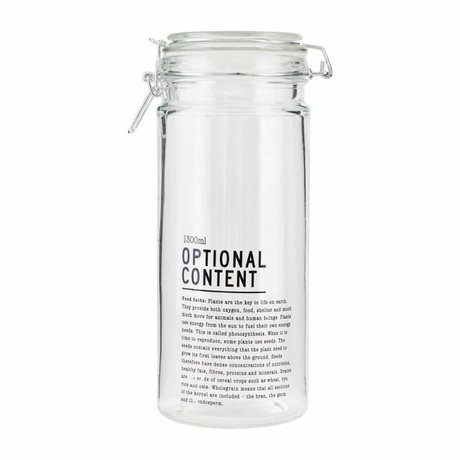 Housedoctor Optional glass jar Content 10x10x25cm 1300ml