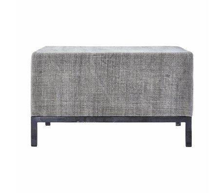Housedoctor Pouf grauer Wolle Eisen 80x80x45cm