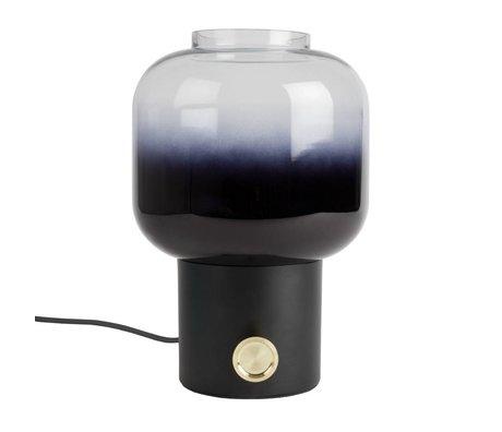 Zuiver Table lamp moody black metal glass 20x38,5cm