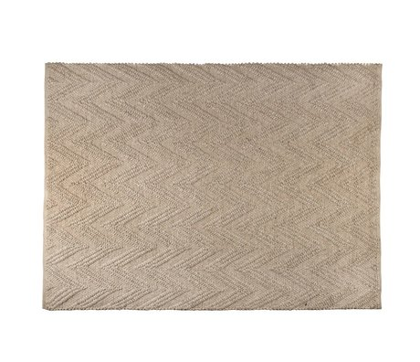 Zuiver Tapis Punja Marled brun clair 170x240x1cm laine