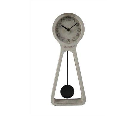 Zuiver Pendulum clock time gray concrete 6x14,5x38cm