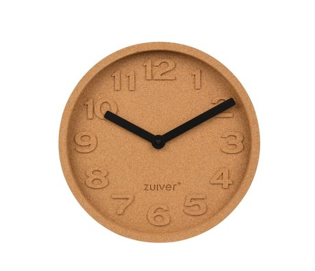 Zuiver Cork time clock orange brown aluminum Ø31x5,5cm