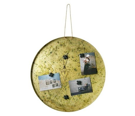 BePureHome Magnetic board Memories brass gold metal ø50cm