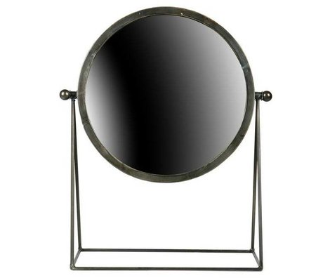 BePureHome Hi mirror black metal 43,5x36x16cm