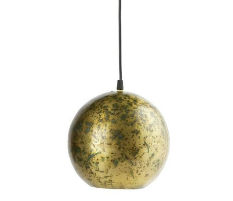 BePureHome Pendelleuchte Cannon Ball Messing Gold Metall 20xØ20cm