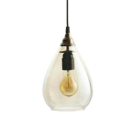 BePureHome Hanging lamp Simple brass gold glass M 25xØ11cm