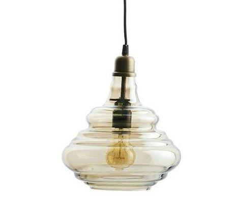 BePureHome laiton pur lampe suspendue 28xØ25cm de verre d'or