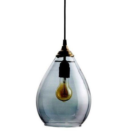 BePureHome Hanglamp Simple gray glass L 28xØ14cm