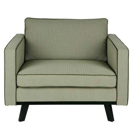 BePureHome Fauteuil Rebel groen polyester hout 85x105x86cm