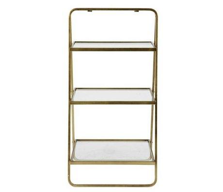 BePureHome Table d'appoint 58x106x10cm déesse en métal doré