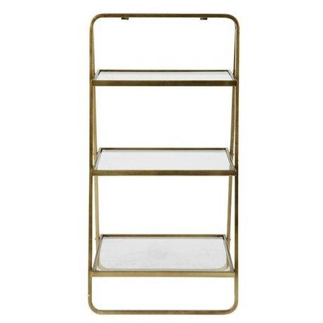 BePureHome Beistelltisch Göttin Gold Metall 58x106x10cm