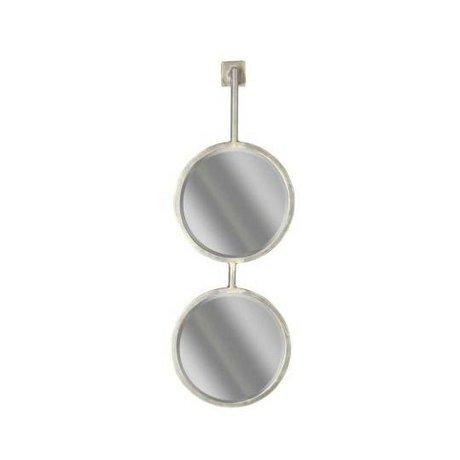 BePureHome Ketten Spiegel Doppel-Spiegel M schwarz Metall 64x29x22cm