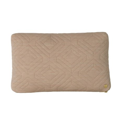 Ferm Living Cushion Quilt camel brown textile 40x25cm
