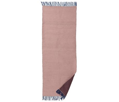 Ferm Living Teppich Nomad rosa recyceltem Polyester L 70x180cm