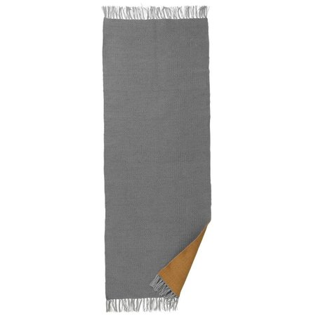 Ferm Living Rug Nomad curry gray recycled polyester L 70x180cm