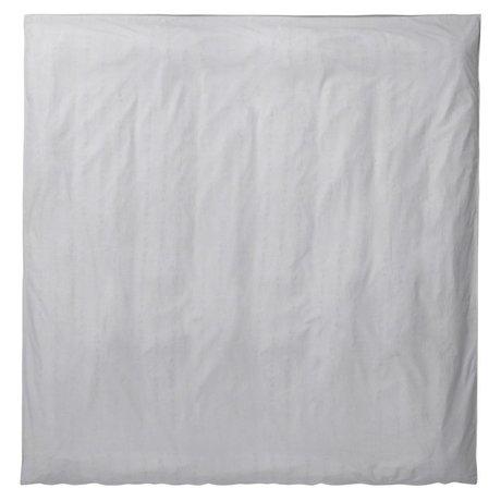 Ferm Living Couette Chut gris clair coton 200x200cm organique
