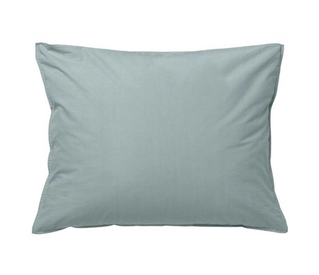 Ferm Living Cushion Hush dusty blue organic cotton 70x50cm