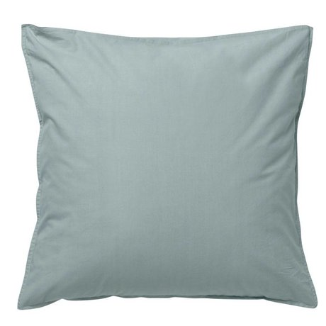 Ferm Living Cushion Hush dusty blue organic cotton 80x80cm