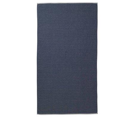 Ferm Living Strandlaken Sento blauw organisch katoen 100x180cm