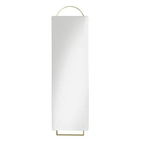 Ferm Living laiton miroir Parez 45x159cm en métal doré