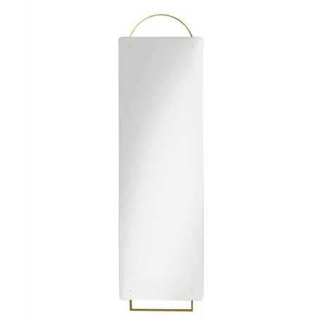 Ferm Living Schmücken Spiegel Messing Gold Metall 45x159cm