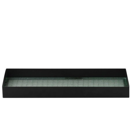 Ferm Living Tray Haze black metal glass S 33x12x3,2cm