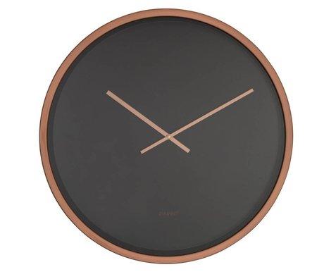 Zuiver Clock Time Bandit schwarz Kupfer Aluminium Ø60x5cm