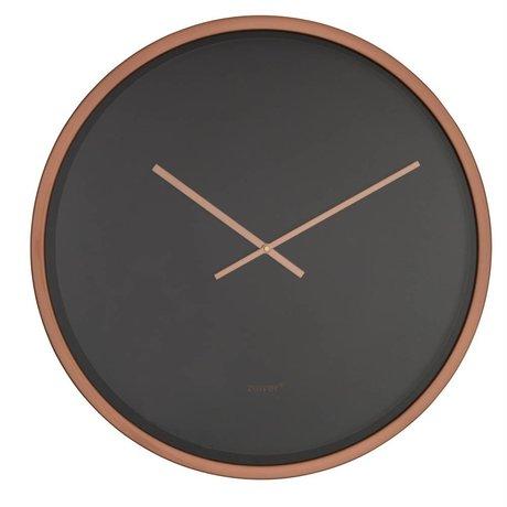 Zuiver Clock Time bandit black copper aluminum Ø60x5cm