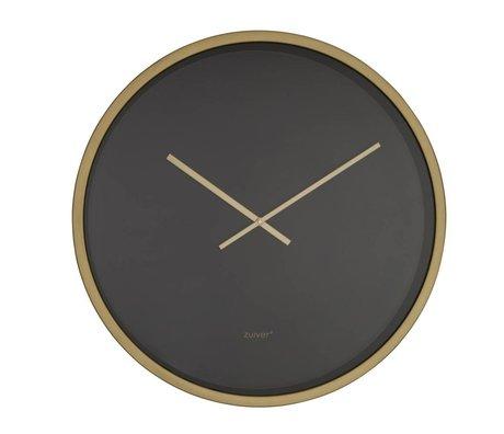 Zuiver bandit Clock Time or noir en aluminium Ø60x5cm