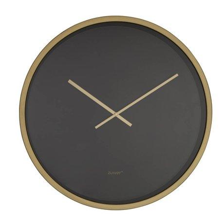 Zuiver Clock Time Bandit schwarz Gold Aluminium Ø60x5cm