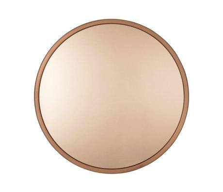 Zuiver cuivre métallique Bandit Ø60x5 verre miroir cm