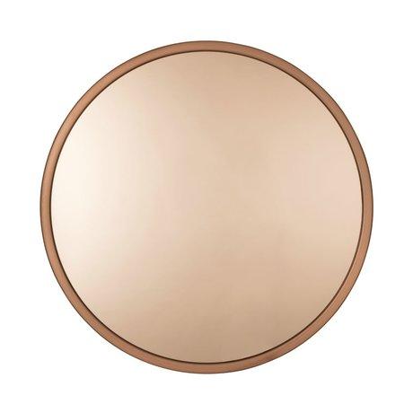 Zuiver Bandit copper metal mirror glass Ø60x5 cm