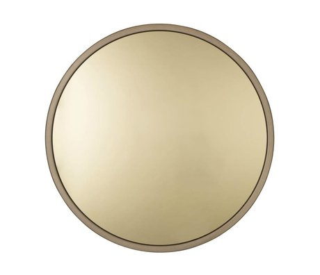 Zuiver Bandit gold metal mirror glass Ø60x5cm