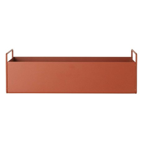 Ferm Living Box Pflanze Orange Metall S 45x14,5x17cm