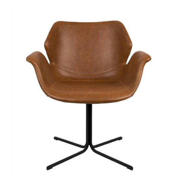 Leder Schreibtischstuhl zuiver braunem leder schreibtischstuhl metall 66x62x80cm