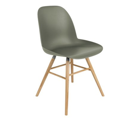 Zuiver Dining chair Albert Kuip green plastic timber 49x55x81,5cm