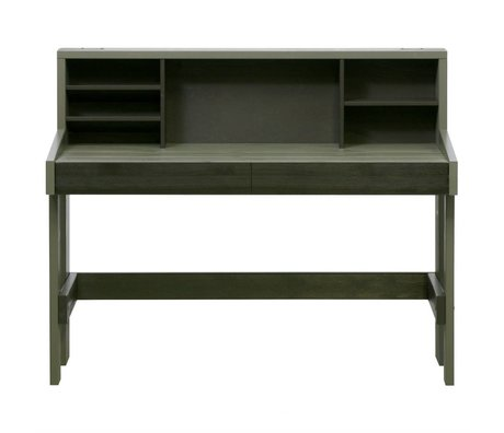 LEF collections Office Derk forrest-charcoal green wood 108x130x60cm