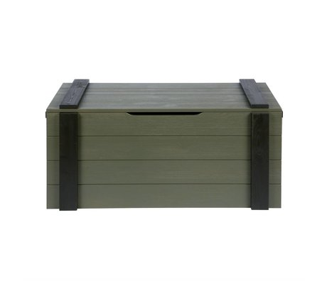 LEF collections Storage boxes Derk forrest-charcoal green 44x96x44cm