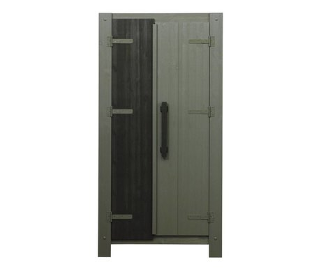 LEF collections Wardrobe Derk forrest-charcoal green 178x89x39cm