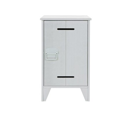 LEF collections Nightstand safe concrete gray wood 63,5x37x35cm