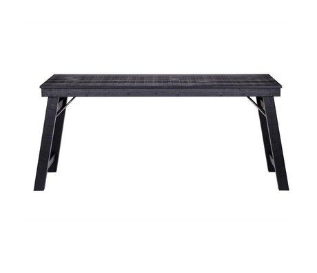 LEF collections Baseball desk black wood metal 73x174x57cm