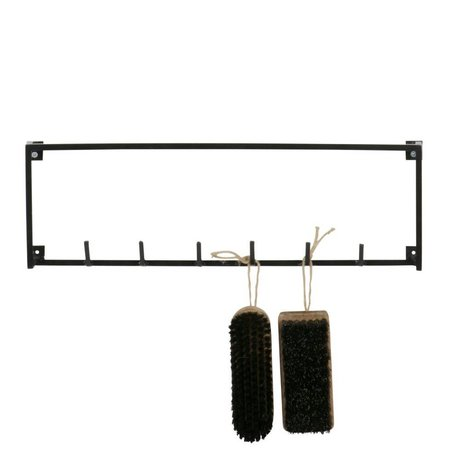 LEF collections Kapstop 6 hakken Meert zwart metaal 16x50x3,5cm