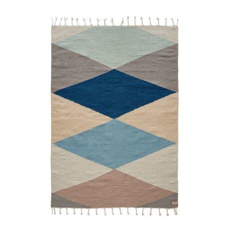 OYOY Hip-Teppich zurück bunten Wolle Baumwolle 170x120cm