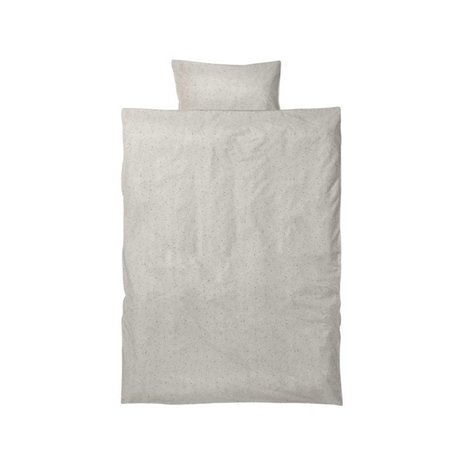 Ferm Living Hush baby duvet set milkyway cream cotton 70x100 cm incl pillowcase 46 x40cm
