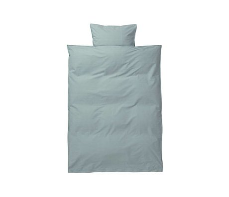 Ferm Living Hush baby duvet set dusty blue cotton 70x100 cm incl pillowcase 46x40cm