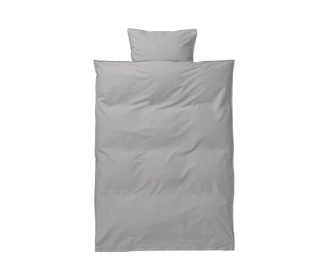 Ferm Living Hush baby duvet cover set gray cotton 70x100 cm incl pillowcase 46 x40cm