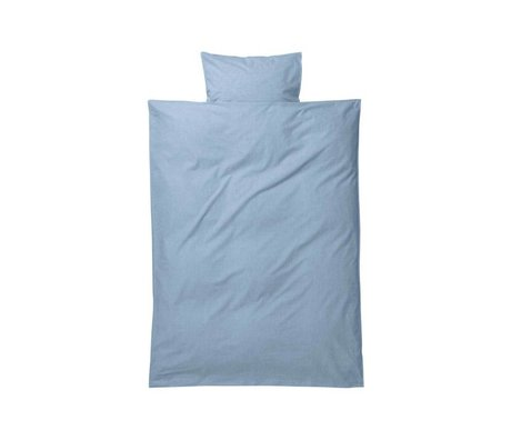 Ferm Living Hush baby duvet set light blue cotton 70x100 cm incl pillowcase 46x40cm