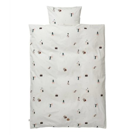 Ferm Living Party adult duvet set 140x200cm including cotton pillowcase 63x60cm
