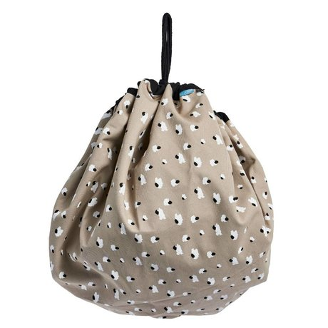 OYOY Playsack taupe bag organic cotton canvas 138cm